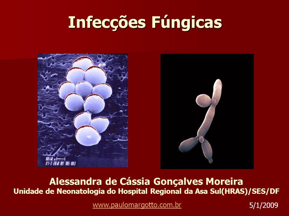 Infecções Fúngicas Alessandra de Cássia Gonçalves Moreira Unidade de Neonatologia do Hospital Regional da Asa Sul(HRAS)/SES/DF www.paulomargotto.com.b