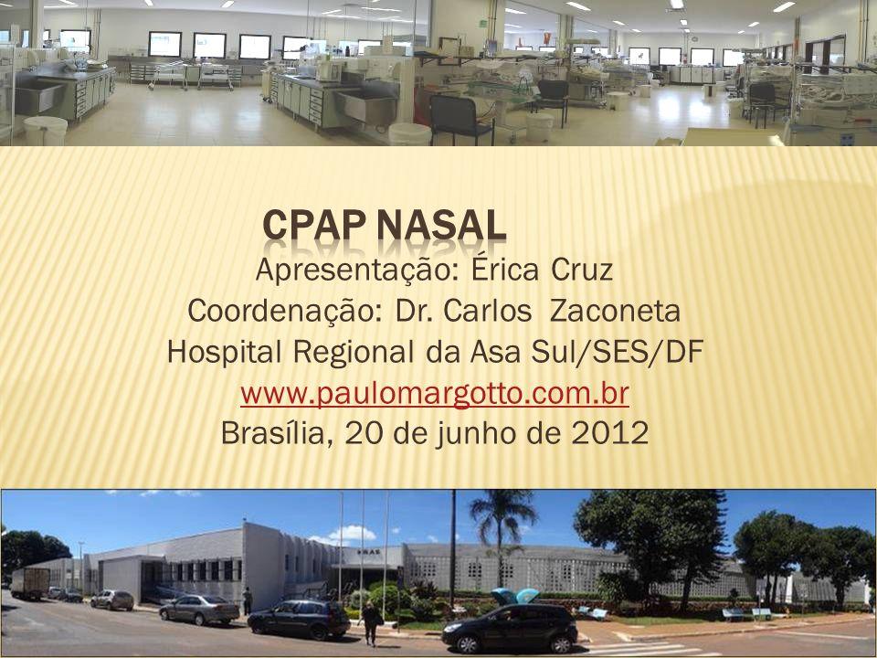 Apresentação: Érica Cruz Coordenação: Dr. Carlos Zaconeta Hospital Regional da Asa Sul/SES/DF www.paulomargotto.com.br Brasília, 20 de junho de 2012