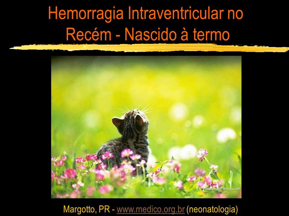 Hemorragia Intraventricular no Recém - Nascido à termo Margotto, PR - www.medico.org.br (neonatologia)www.medico.org.br