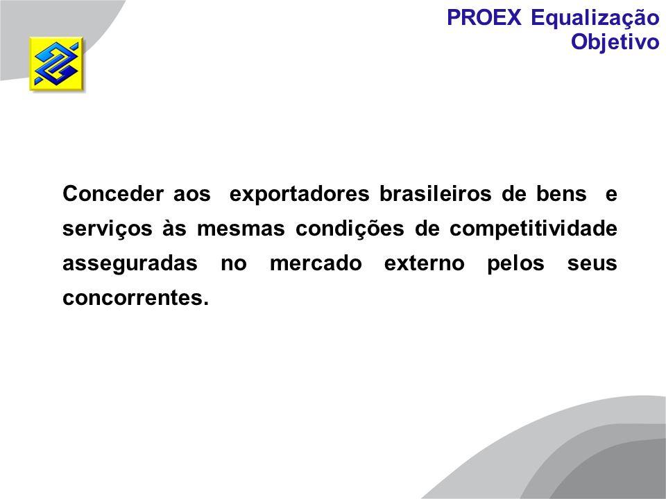 Conceder aos exportadores brasileiros de bens e serviços às mesmas condições de competitividade asseguradas no mercado externo pelos seus concorrentes