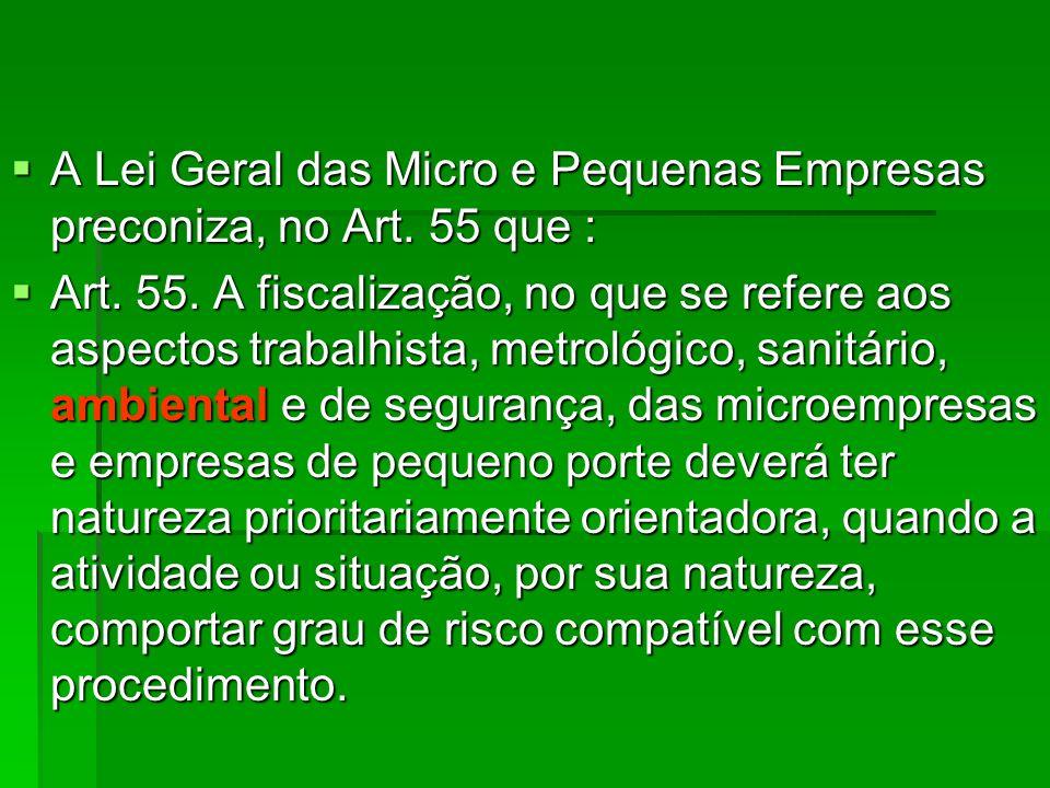 A Lei Geral das Micro e Pequenas Empresas preconiza, no Art. 55 que : A Lei Geral das Micro e Pequenas Empresas preconiza, no Art. 55 que : Art. 55. A