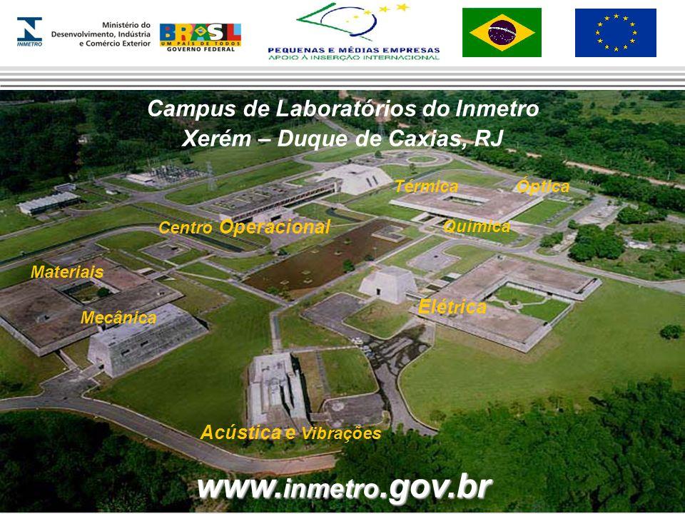 www. inmetro.gov.br Campus de Laboratórios do Inmetro Xerém – Duque de Caxias, RJ Materiais Acústica e Vibrações Elét r ica TérmicaÓptica Química Cent