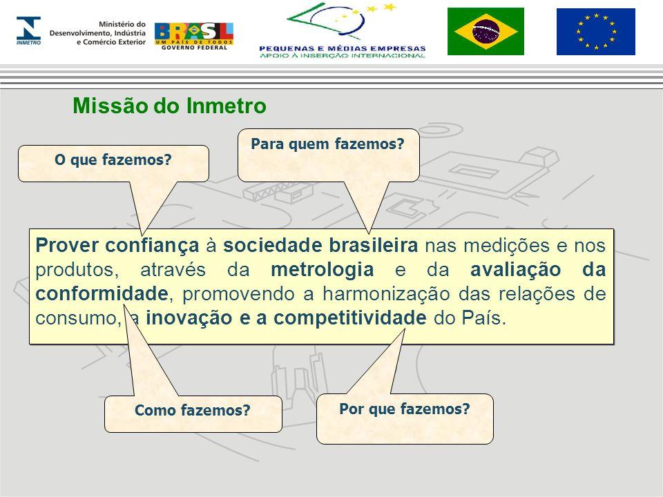 Prover confiança à sociedade brasileira nas medições e nos produtos, através da metrologia e da avaliação da conformidade, promovendo a harmonização d