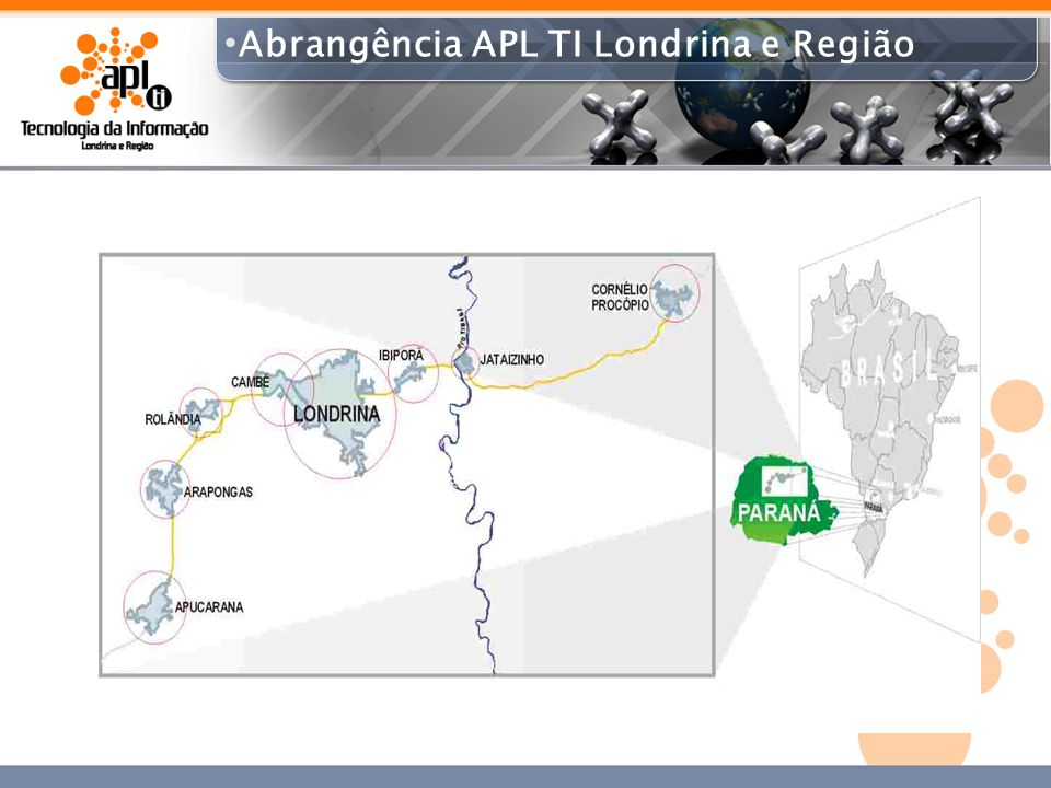 220 Empresas instaladas na região de atuação do APL.