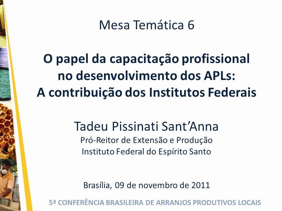 5ª CONFERÊNCIA BRASILEIRA DE ARRANJOS PRODUTIVOS LOCAIS Escolarização e capacitação profissional (2) Capacitação x Qualificação x Formação Que educação básica.