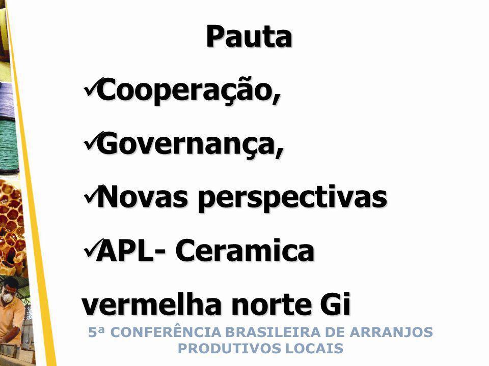 5ª CONFERÊNCIA BRASILEIRA DE ARRANJOS PRODUTIVOS LOCAIS Cooperação Experiência de vida, Experiência de vida, Experiência da Cooperação – ASCENO.