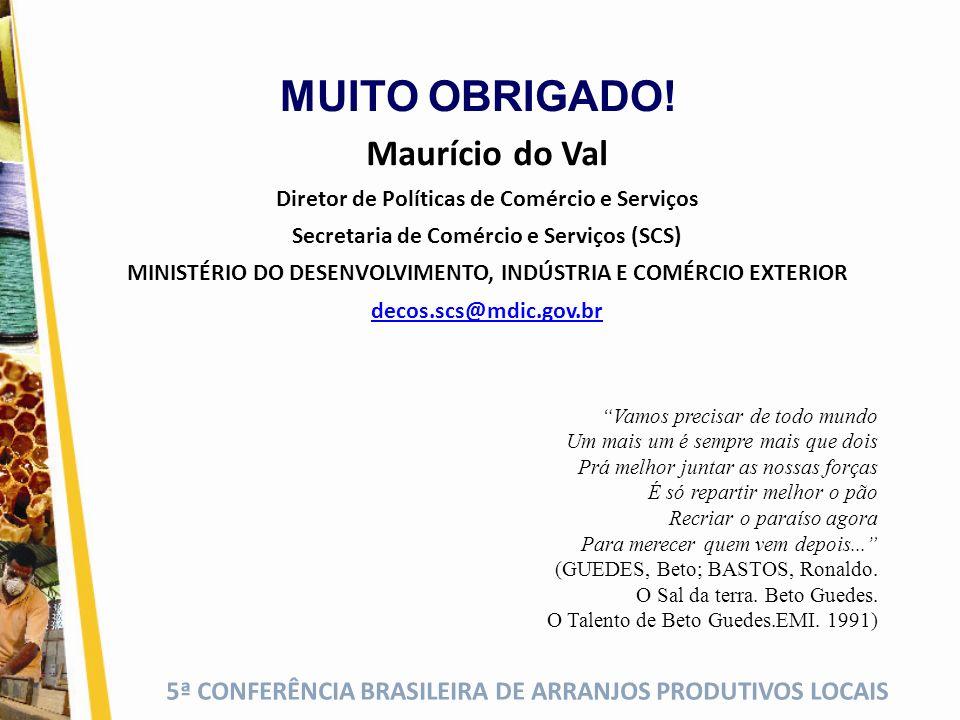 5ª CONFERÊNCIA BRASILEIRA DE ARRANJOS PRODUTIVOS LOCAIS Vamos precisar de todo mundo Um mais um é sempre mais que dois Prá melhor juntar as nossas for
