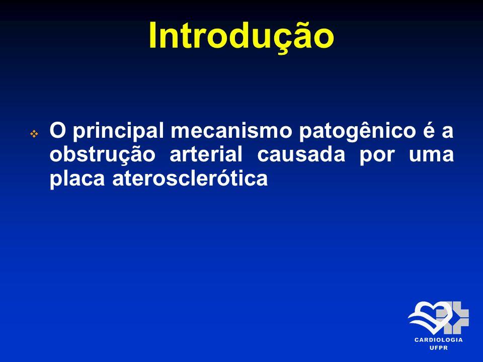 Introdução O principal mecanismo patogênico é a obstrução arterial causada por uma placa aterosclerótica