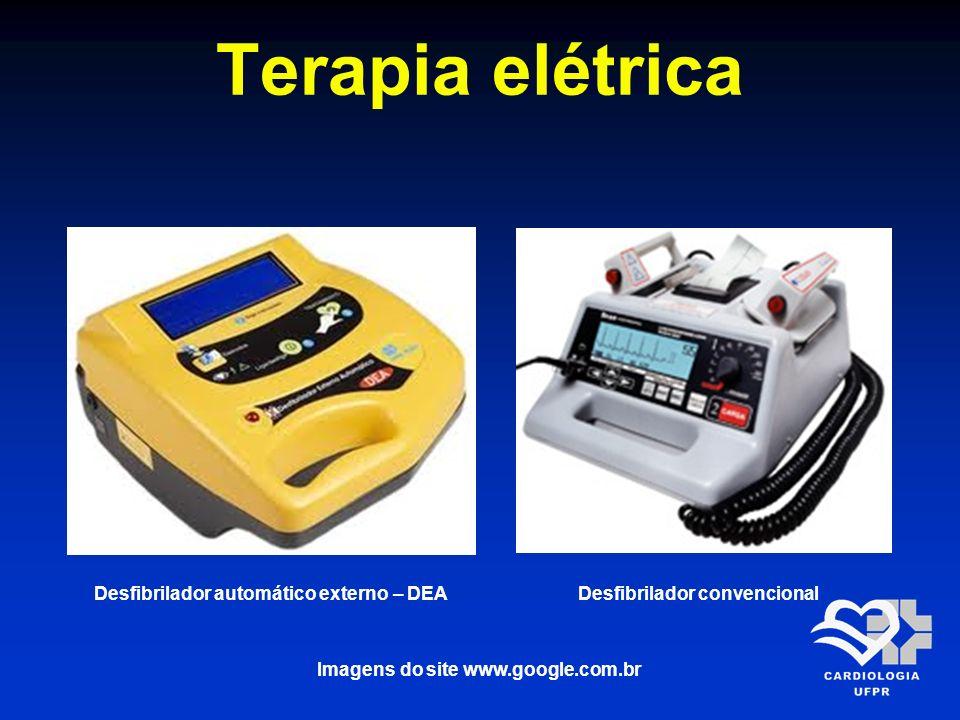 Terapia elétrica Desfibrilador automático externo – DEADesfibrilador convencional Imagens do site www.google.com.br