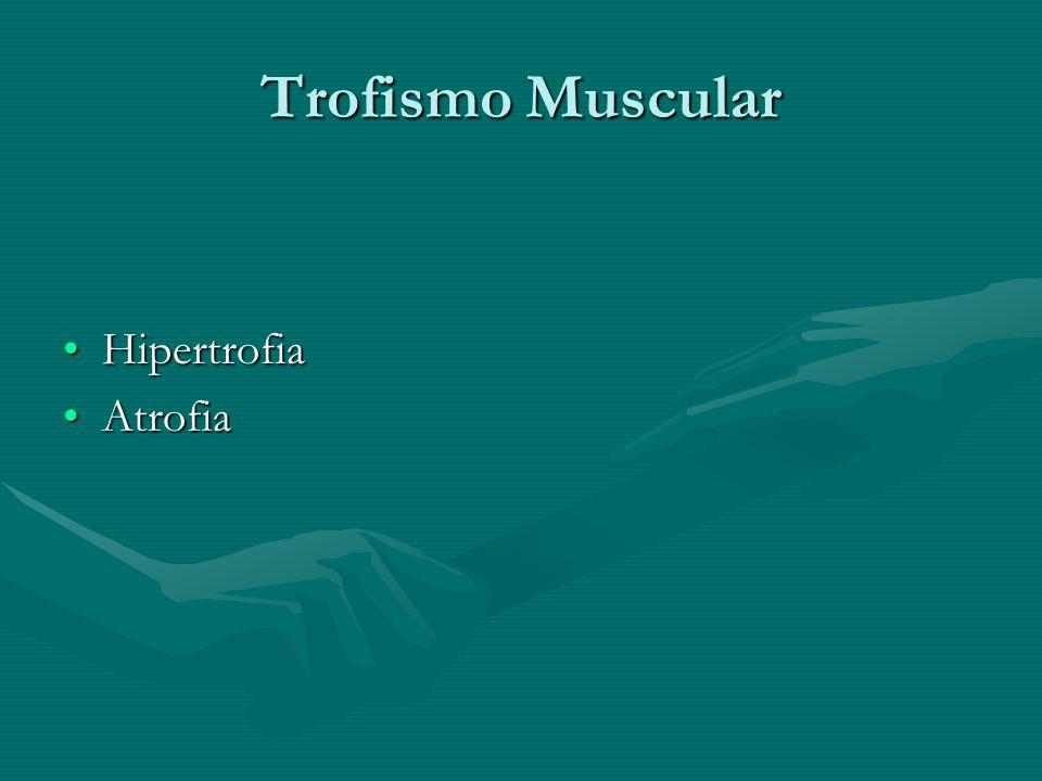 Trofismo Muscular HipertrofiaHipertrofia AtrofiaAtrofia