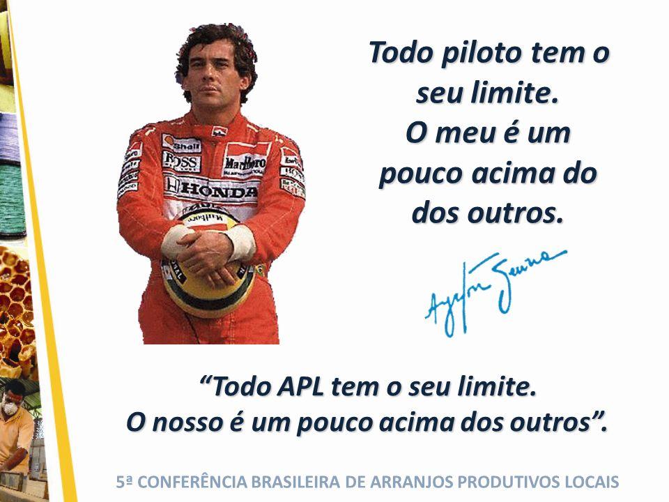 5ª CONFERÊNCIA BRASILEIRA DE ARRANJOS PRODUTIVOS LOCAIS Todo piloto tem o seu limite.