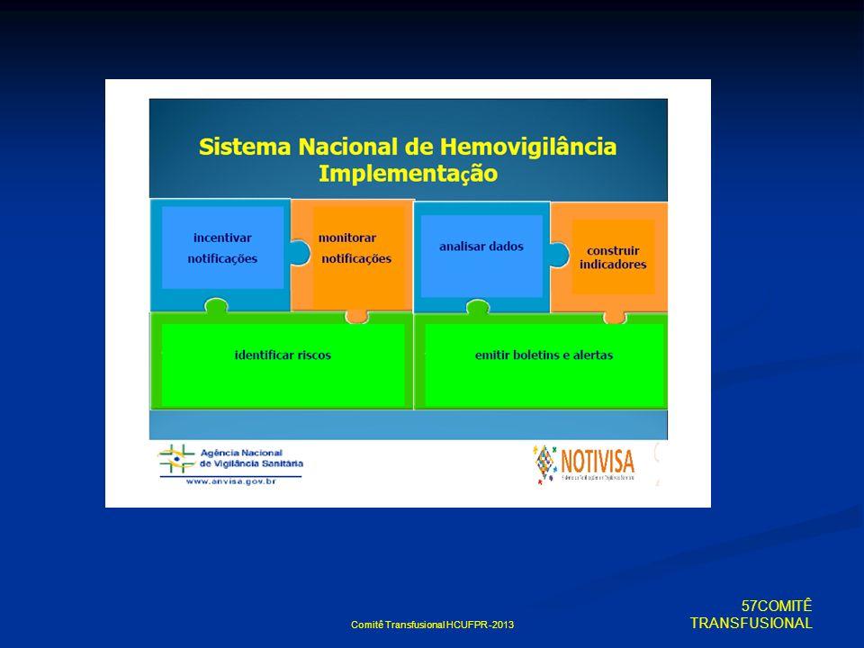 Comitê Transfusional HCUFPR -2013 57COMITÊ TRANSFUSIONAL