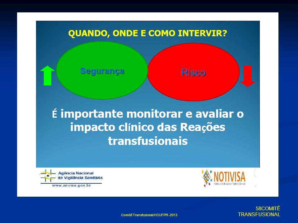 Comitê Transfusional HCUFPR -2013 58COMITÊ TRANSFUSIONAL