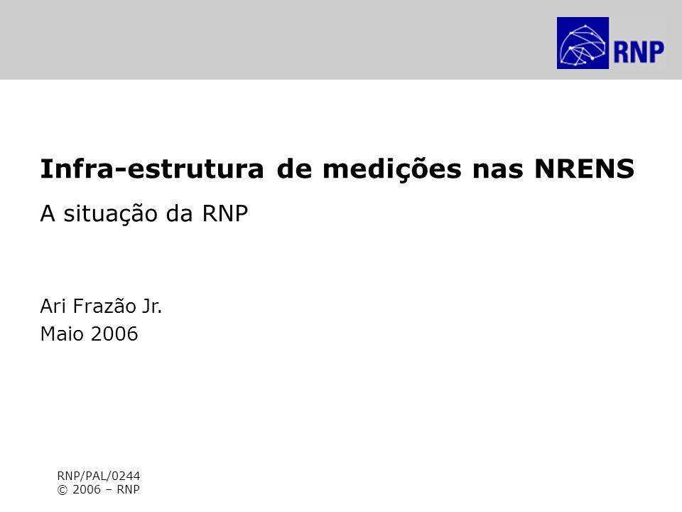 7º WRNP – Painel Infra-estrutura de medições nas NRENS Infra-estrutura de medições nas NRENS A situação da RNP Ari Frazão Jr. Maio 2006 RNP/PAL/0244 ©