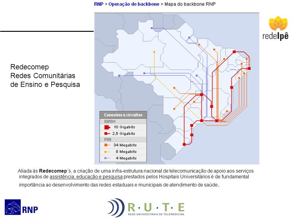 Aliada às Redecomep´s, a criação de uma infra-estrutura nacional de telecomunicação de apoio aos serviços integrados de assistência, educação e pesqui