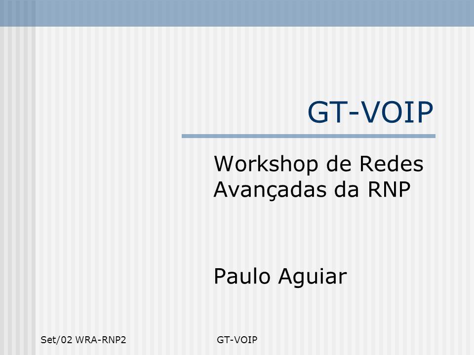 Set/02 WRA-RNP2GT-VOIP Workshop de Redes Avançadas da RNP Paulo Aguiar