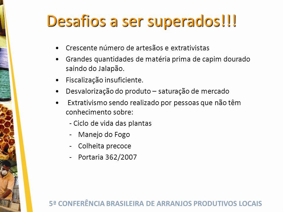 5ª CONFERÊNCIA BRASILEIRA DE ARRANJOS PRODUTIVOS LOCAIS Desafios a ser superados!!.