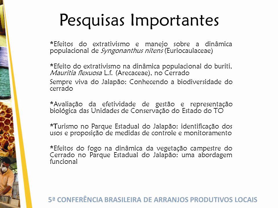 5ª CONFERÊNCIA BRASILEIRA DE ARRANJOS PRODUTIVOS LOCAIS QUAL A FORMA SUSTENTÁVEL DE MANEJO DO CAPIM DOURADO.