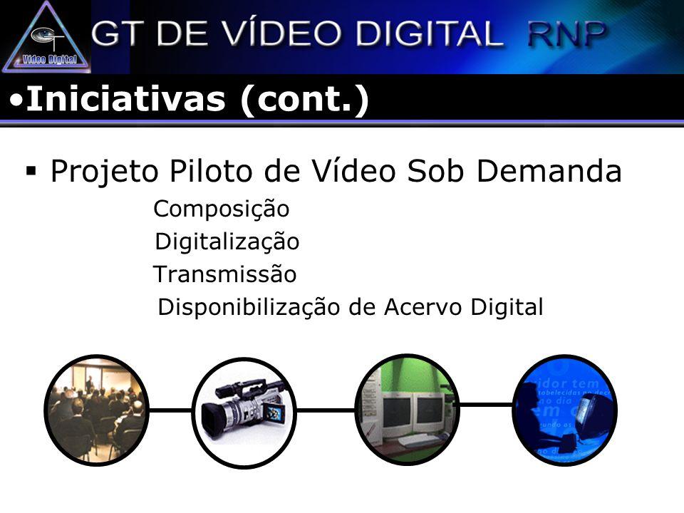 VoD – Conteúdo Digital Biblioteca de Vídeo Digital RNP Biblioteca Digital da SBC Conteúdo de TVs Educativas (TVU) Conteúdos de Vídeo gerados nos projetos de redes Avançadas e Conteúdos Digitais ?