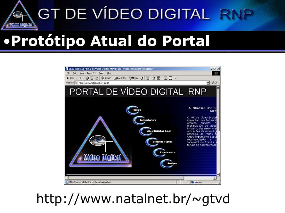VoD – Integração GT Diretórios Integração de diferentes servidores e serviços Servidor GT VD Cliente 1Cliente 2Cliente 3 Servidor GT Diretório Internet Refletor 1 Refletor 2