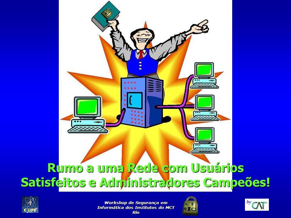 Workshop de Segurança em Informática dos Institutos do MCT Rio Rumo a uma Rede com Usuários Satisfeitos e Administradores Campeões!