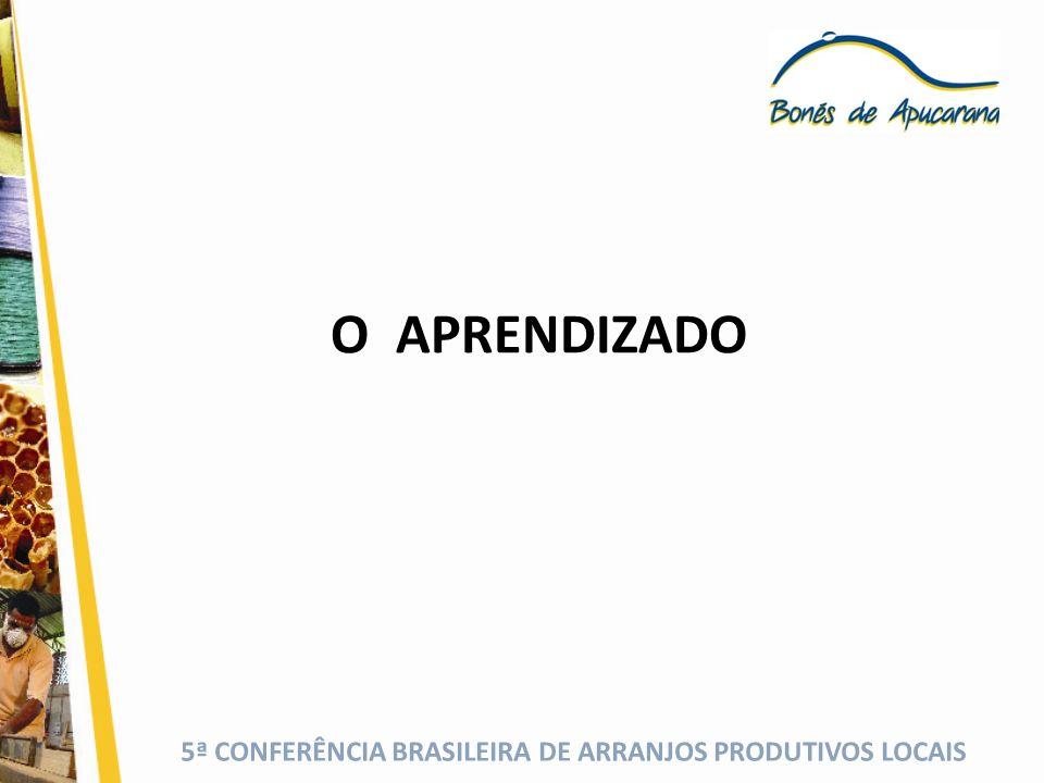 5ª CONFERÊNCIA BRASILEIRA DE ARRANJOS PRODUTIVOS LOCAIS O APRENDIZADO