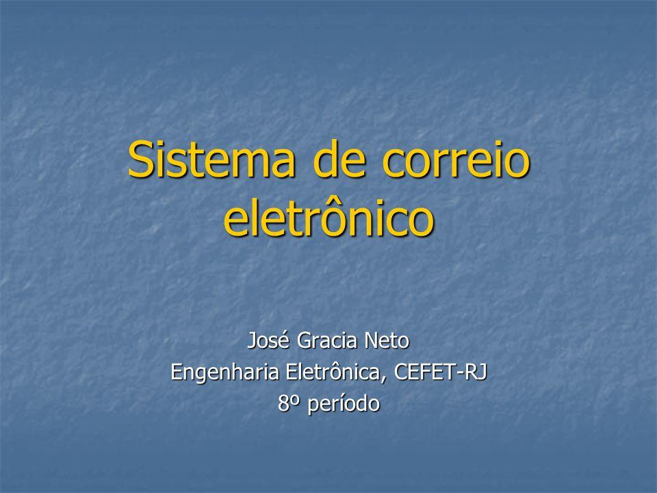 Sistema de correio eletrônico José Gracia Neto Engenharia Eletrônica, CEFET-RJ 8º período