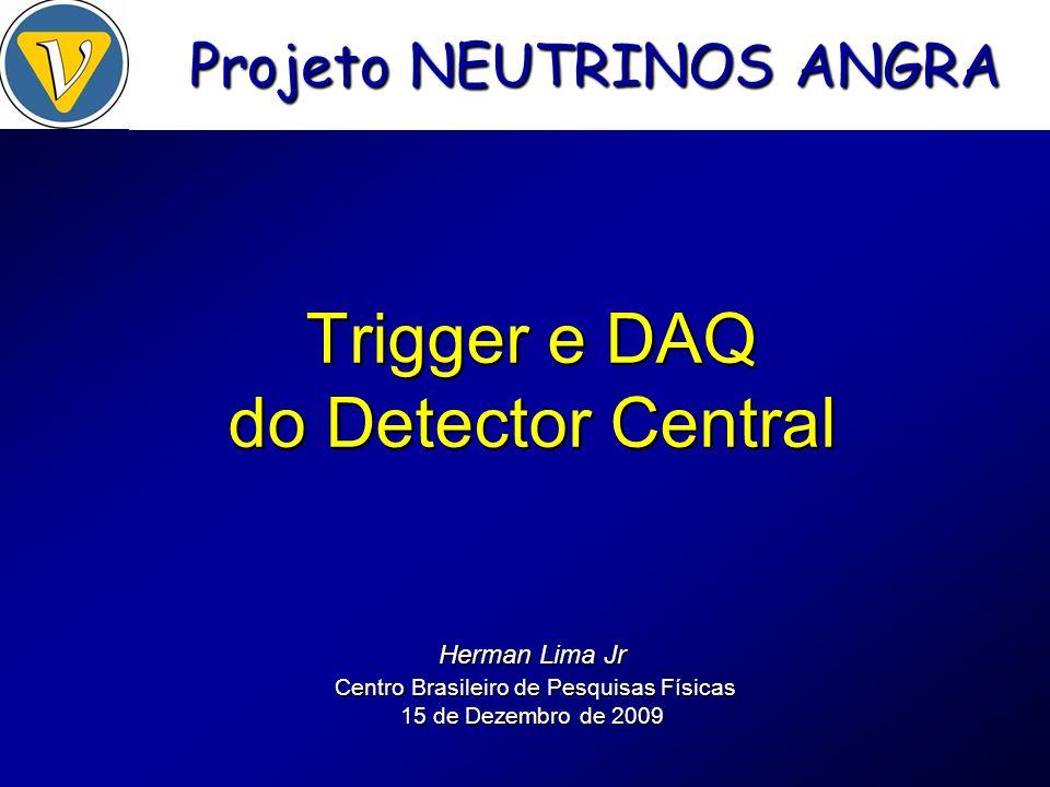 Trigger N0 e VETO PMT front-end (amp + disc) conversor LVTTL / LVDS V1495 64 inputs (CAEN) x 36 CBPFTI (SN65LVDS1) t=7ns t=1,7ns NDAQ (CBPF) Sistema de VETO x 36 x 5 * diagrama para 36 PMTs no detector central x 5 cabo coaxial x 36 CLK (62,5MHz) x 5 VI Encontro Neutrinos Angra – UEFS14-15 de Dezembro de 2009Herman Lima Jr Trigger N1