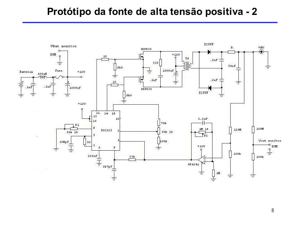 8 Protótipo da fonte de alta tensão positiva - 2