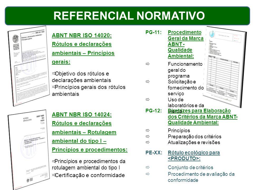 ABNT NBR ISO 14020: Rótulos e declarações ambientais – Princípios gerais: Objetivo dos rótulos e declarações ambientais Princípios gerais dos rótulos
