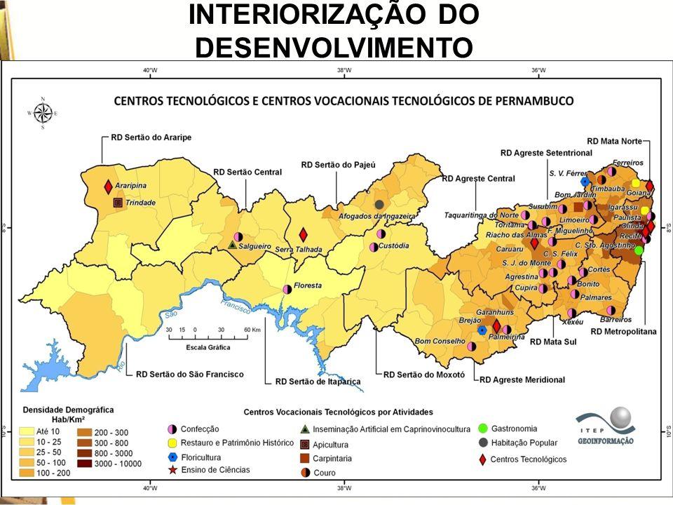 RESULTADOS DO PROCVT NORDESTE INTERIORIZAÇÃO DO DESENVOLVIMENTO