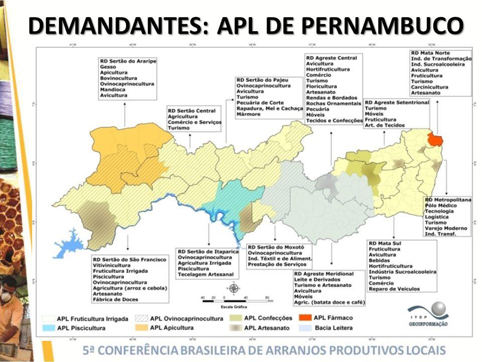 DEMANDANTES: APL DE PERNAMBUCO