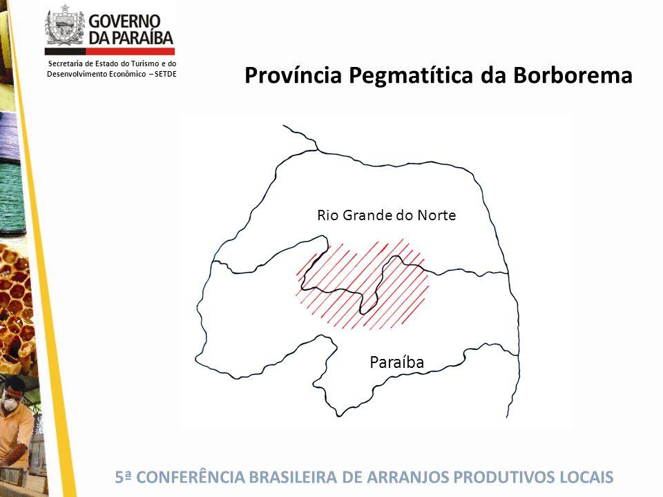 5ª CONFERÊNCIA BRASILEIRA DE ARRANJOS PRODUTIVOS LOCAIS Ocorrências Minerais