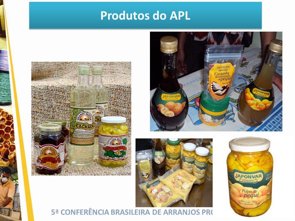 5ª CONFERÊNCIA BRASILEIRA DE ARRANJOS PRODUTIVOS LOCAIS Produtos do APL