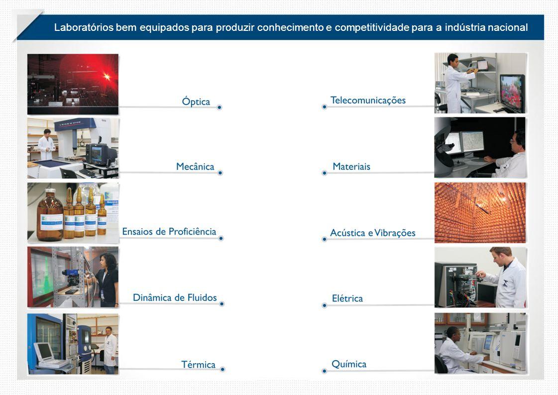 Laboratórios bem equipados para produzir conhecimento e competitividade para a indústria nacional