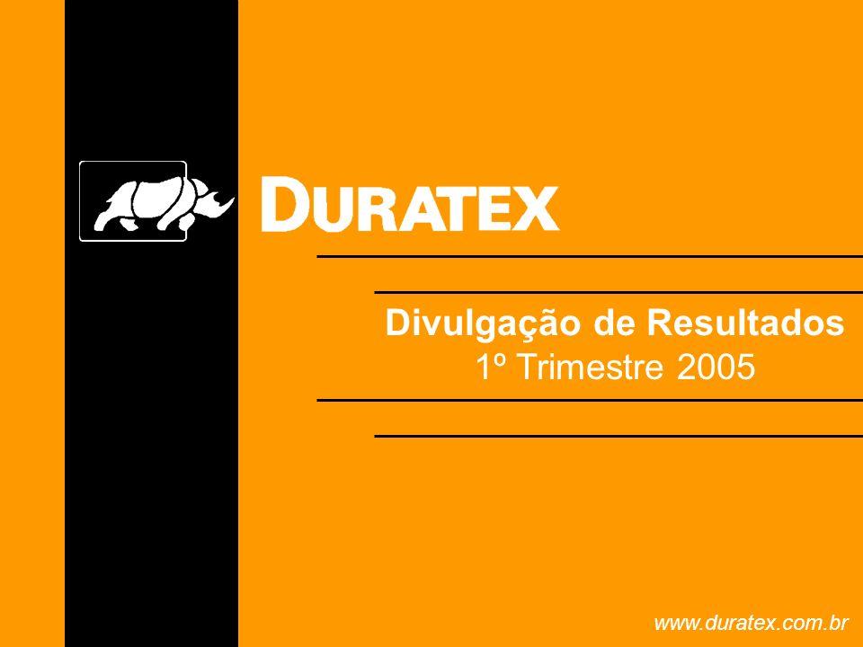 Divulgação de Resultados 1º Trimestre 2005 www.duratex.com.br
