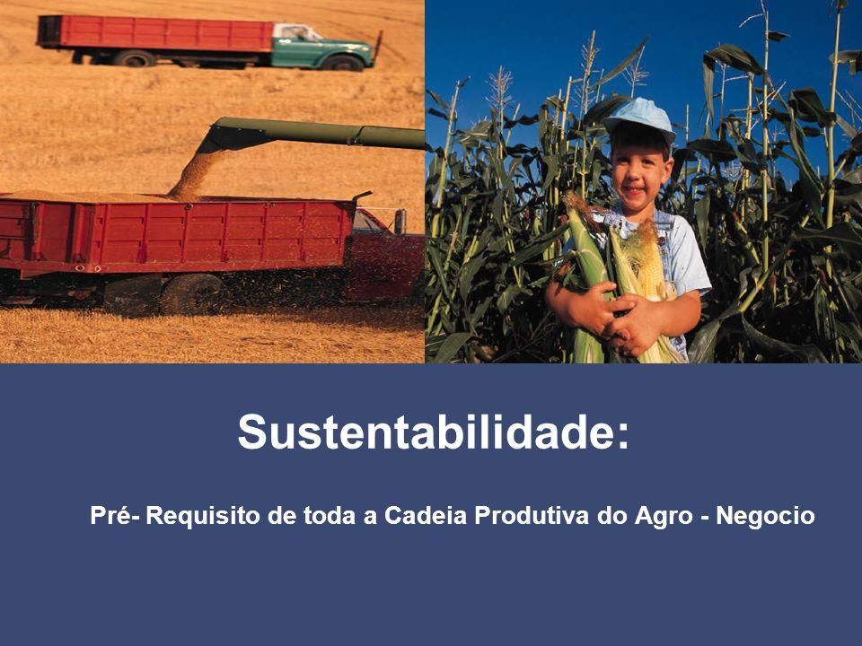 Sustentabilidade: Pré- Requisito de toda a Cadeia Produtiva do Agro - Negocio