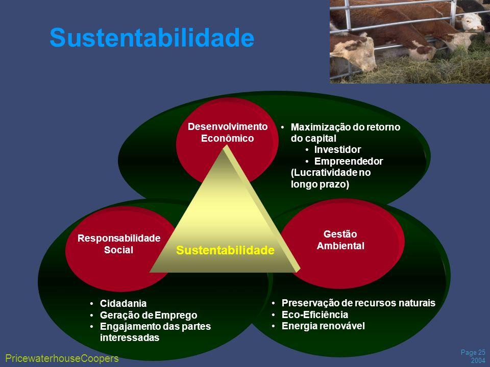 Page 25 2004 Maximização do retorno do capital Investidor Empreendedor (Lucratividade no longo prazo) Preservação de recursos naturais Eco-Eficiência