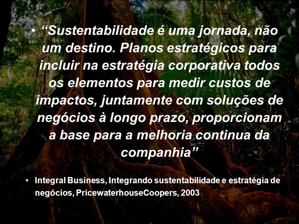 Page 36 2004 Sustentabilidade é uma jornada, não um destino. Planos estratégicos para incluir na estratégia corporativa todos os elementos para medir