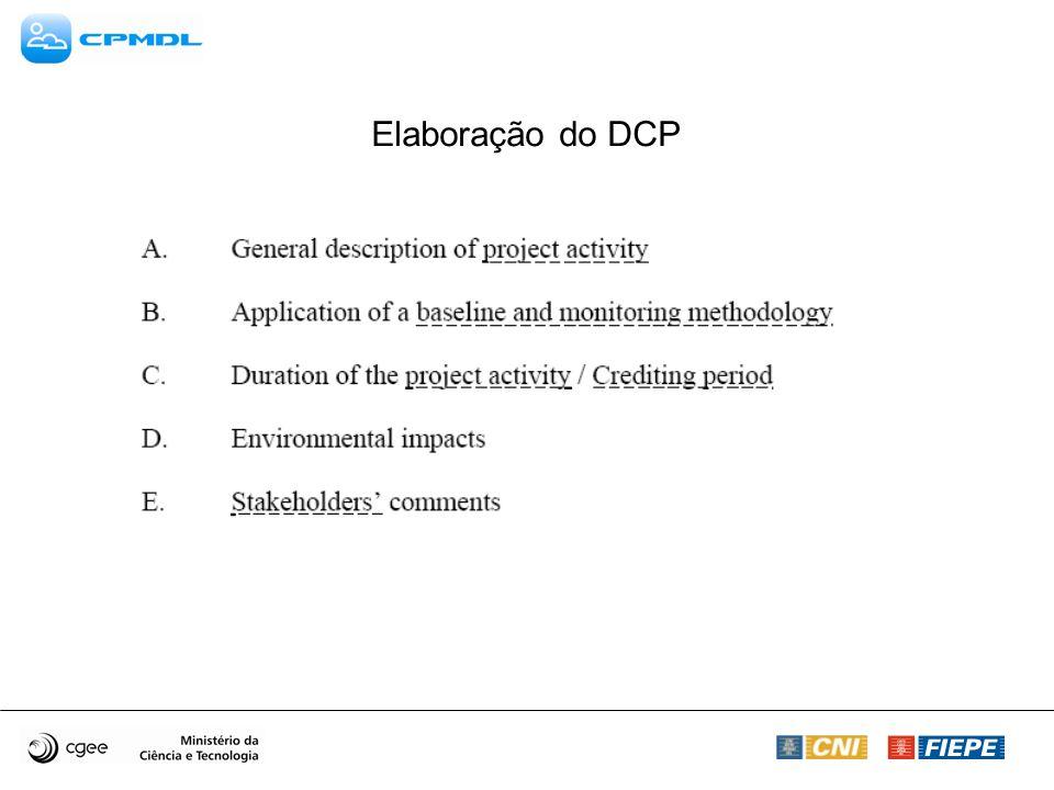 Elaboração do DCP
