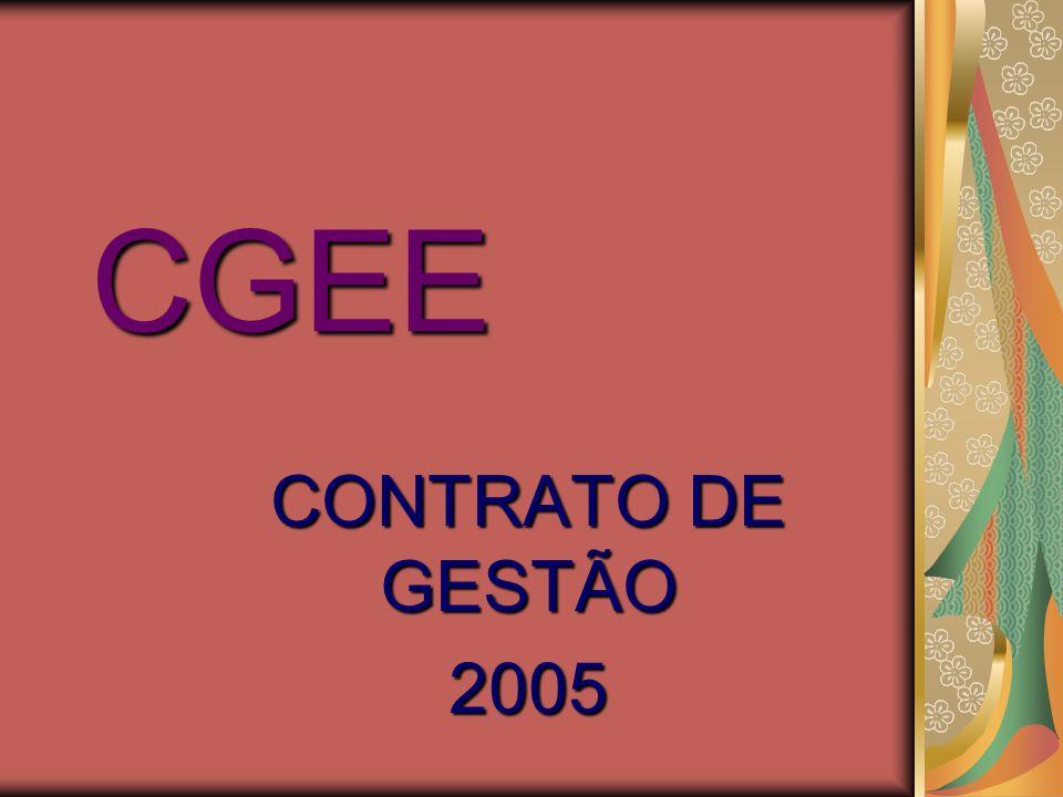 CGEE CONTRATO DE GESTÃO 2005