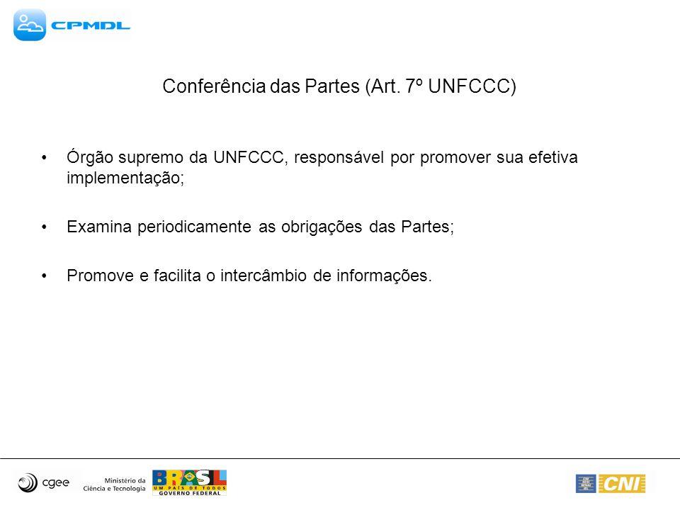 Conferência das Partes (Art.