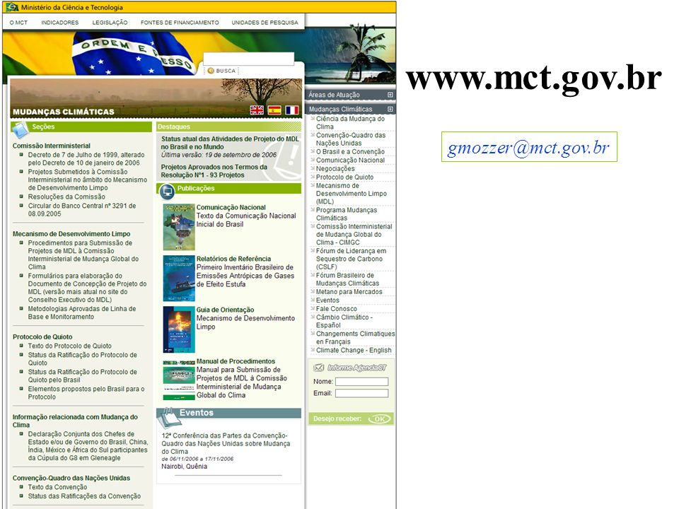 gmozzer@mct.gov.br www.mct.gov.br