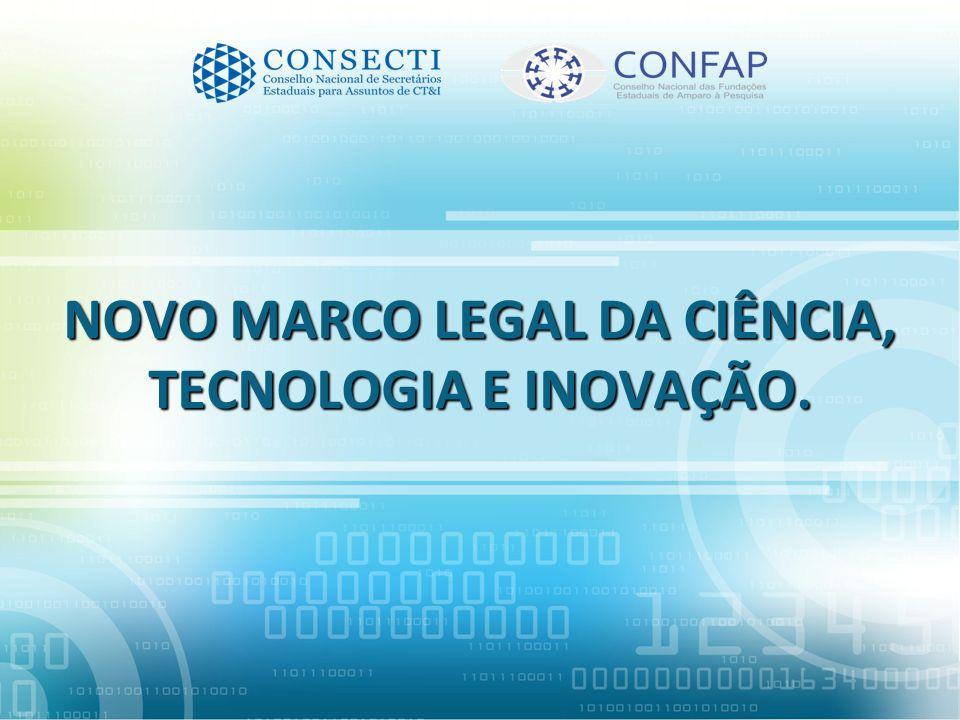 GT CONSECTI / CONFAP - 2012 SICONV: Regime de exceção para projetos e contratações de CT&I.