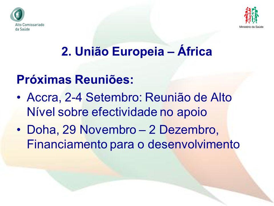 28 Próximas Reuniões: Accra, 2-4 Setembro: Reunião de Alto Nível sobre efectividade no apoio Doha, 29 Novembro – 2 Dezembro, Financiamento para o dese