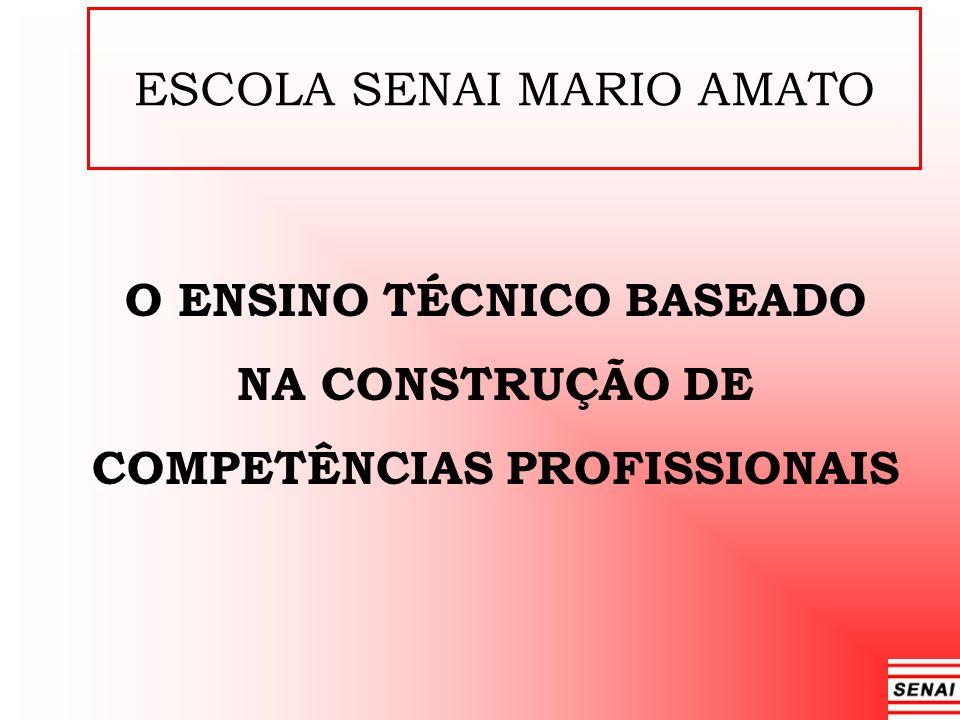 ESCOLA SENAI MARIO AMATO O ENSINO TÉCNICO BASEADO NA CONSTRUÇÃO DE COMPETÊNCIAS PROFISSIONAIS