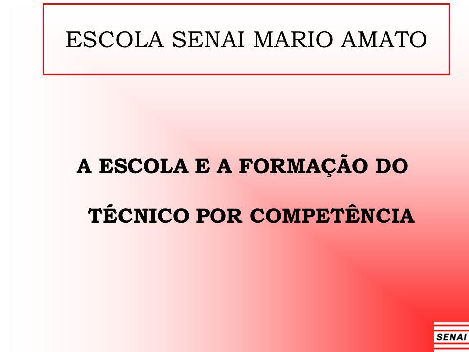 ESCOLA SENAI MARIO AMATO A ESCOLA E A FORMAÇÃO DO TÉCNICO POR COMPETÊNCIA