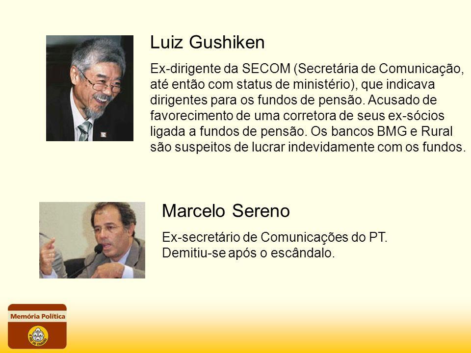 Ex-dirigente da SECOM (Secretária de Comunicação, até então com status de ministério), que indicava dirigentes para os fundos de pensão. Acusado de fa