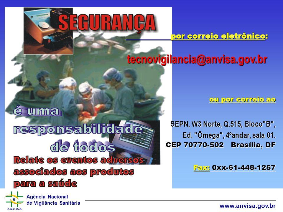 Agência Nacional de Vigilância Sanitária www.anvisa.gov.br O que é a Missão da Tecno vigilância? Promover e proteger a saúde assegurando que os produt