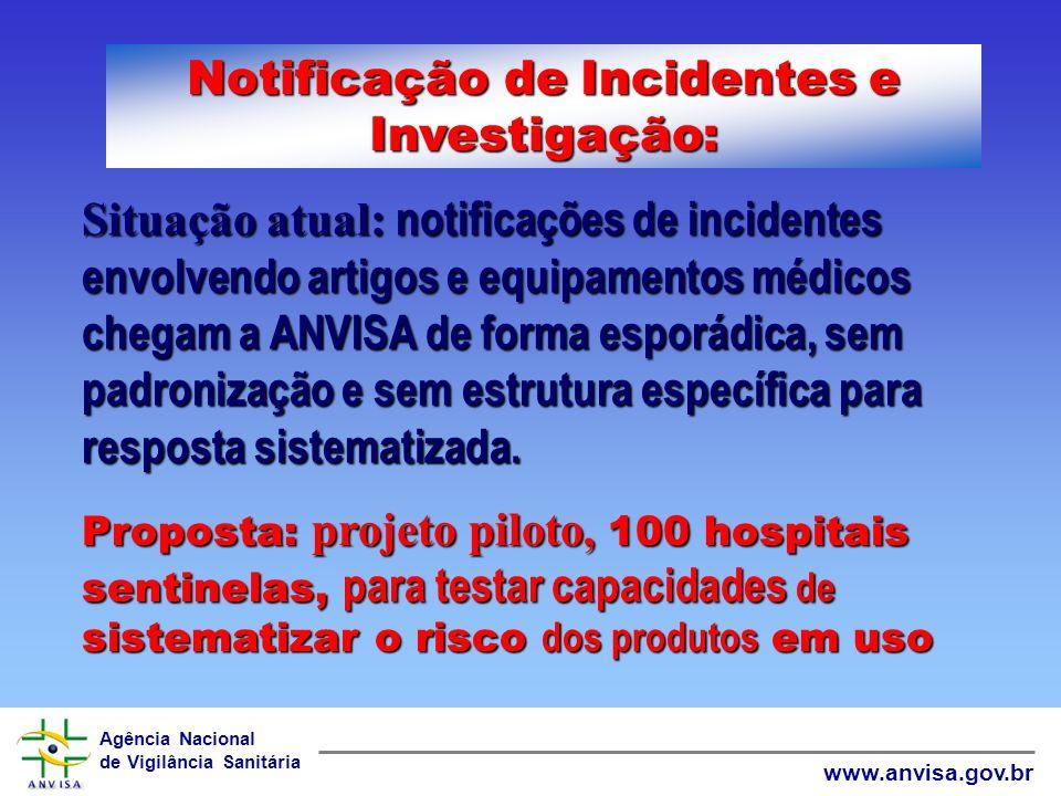 Agência Nacional de Vigilância Sanitária www.anvisa.gov.br Objetivos Continuação 3: 7.